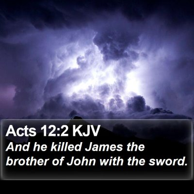 Acts 12:2 KJV Bible Verse Image