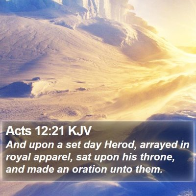 Acts 12:21 KJV Bible Verse Image