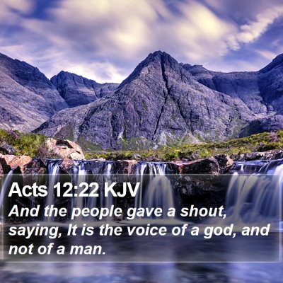 Acts 12:22 KJV Bible Verse Image