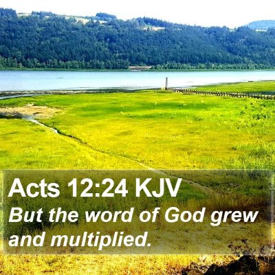 Acts 12:24 KJV Bible Verse Image