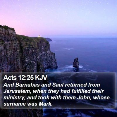 Acts 12:25 KJV Bible Verse Image