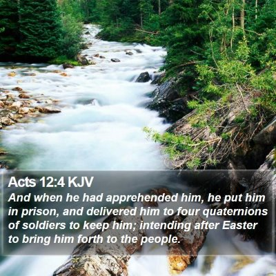 Acts 12:4 KJV Bible Verse Image