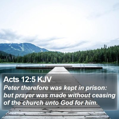 Acts 12:5 KJV Bible Verse Image