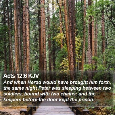 Acts 12:6 KJV Bible Verse Image