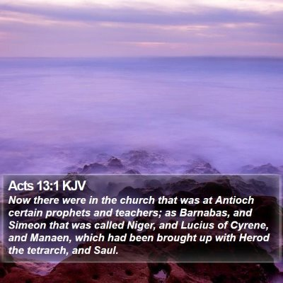 Acts 13:1 KJV Bible Verse Image