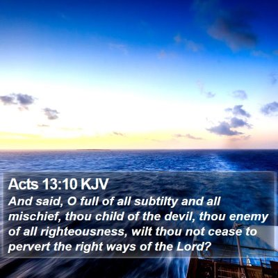 Acts 13:10 KJV Bible Verse Image