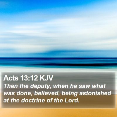 Acts 13:12 KJV Bible Verse Image