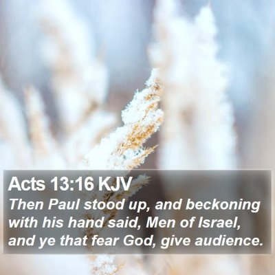 Acts 13:16 KJV Bible Verse Image