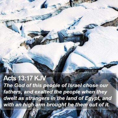Acts 13:17 KJV Bible Verse Image