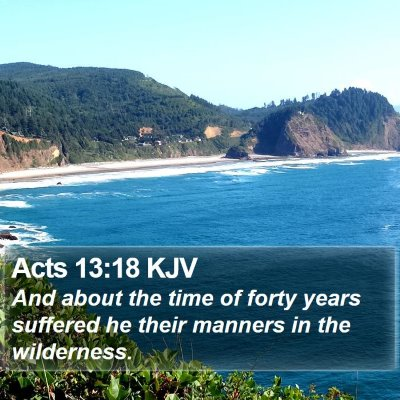Acts 13:18 KJV Bible Verse Image