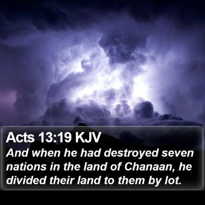 Acts 13:19 KJV Bible Verse Image