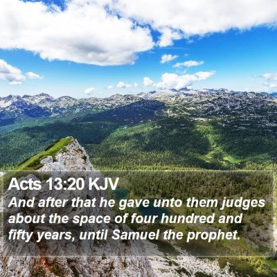 Acts 13:20 KJV Bible Verse Image