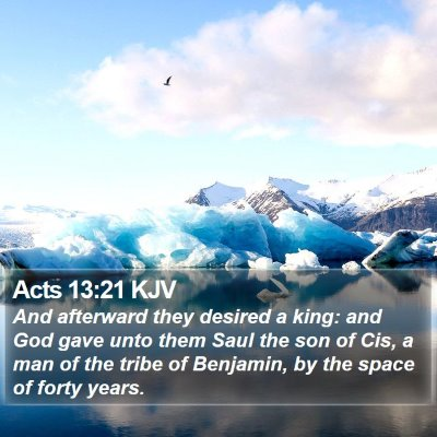 Acts 13:21 KJV Bible Verse Image