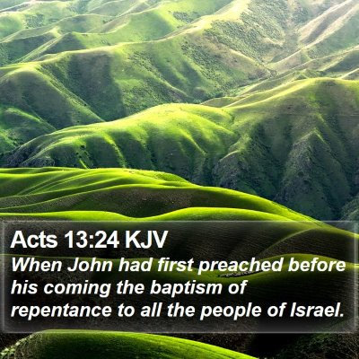 Acts 13:24 KJV Bible Verse Image