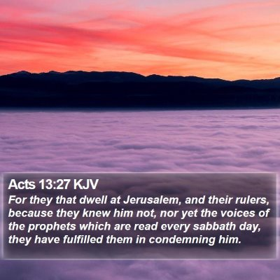 Acts 13:27 KJV Bible Verse Image