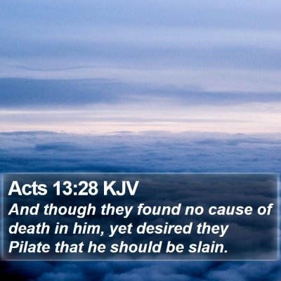 Acts 13:28 KJV Bible Verse Image
