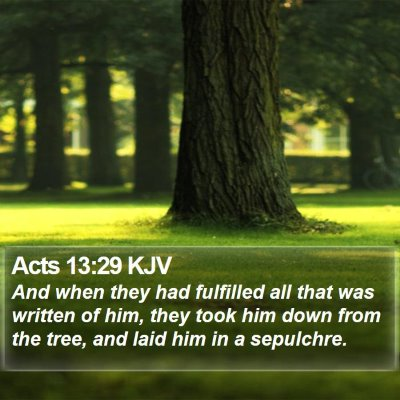 Acts 13:29 KJV Bible Verse Image