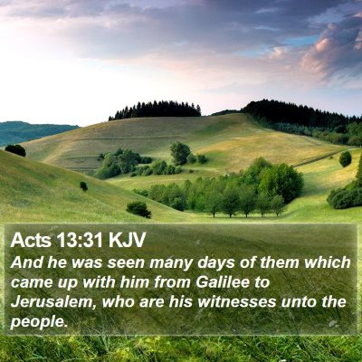 Acts 13:31 KJV Bible Verse Image
