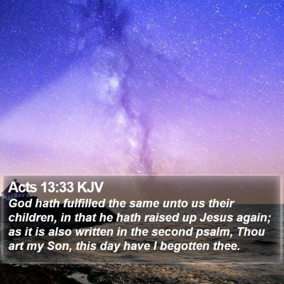 Acts 13:33 KJV Bible Verse Image