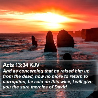 Acts 13:34 KJV Bible Verse Image