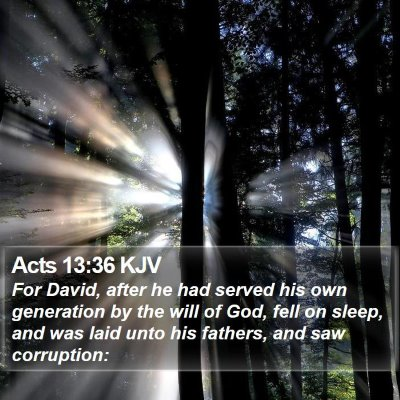Acts 13:36 KJV Bible Verse Image