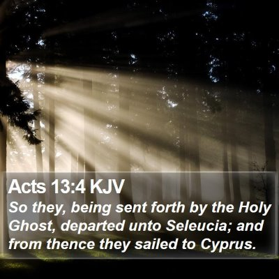 Acts 13:4 KJV Bible Verse Image