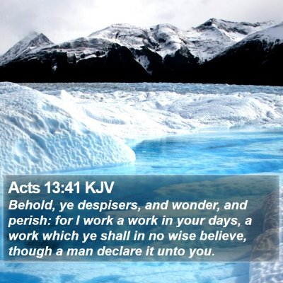 Acts 13:41 KJV Bible Verse Image