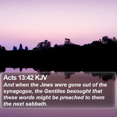 Acts 13:42 KJV Bible Verse Image