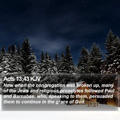 Acts 13:43 KJV Bible Verse Image