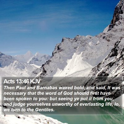 Acts 13:46 KJV Bible Verse Image