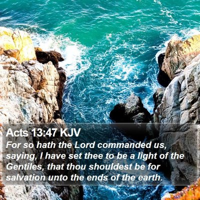 Acts 13:47 KJV Bible Verse Image