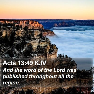 Acts 13:49 KJV Bible Verse Image