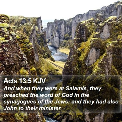 Acts 13:5 KJV Bible Verse Image