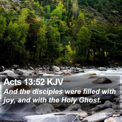 Acts 13:52 KJV Bible Verse Image