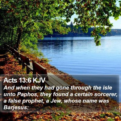 Acts 13:6 KJV Bible Verse Image