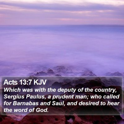 Acts 13:7 KJV Bible Verse Image