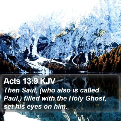 Acts 13:9 KJV Bible Verse Image