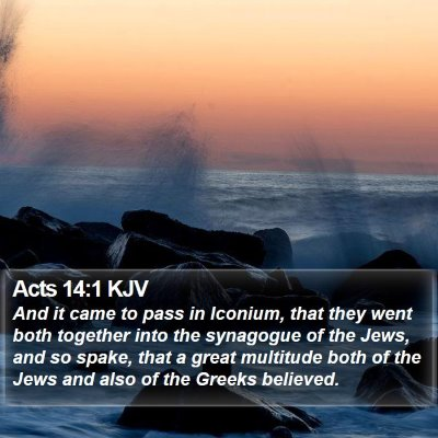 Acts 14:1 KJV Bible Verse Image