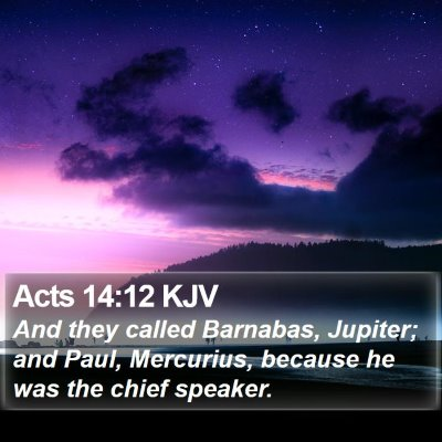 Acts 14:12 KJV Bible Verse Image