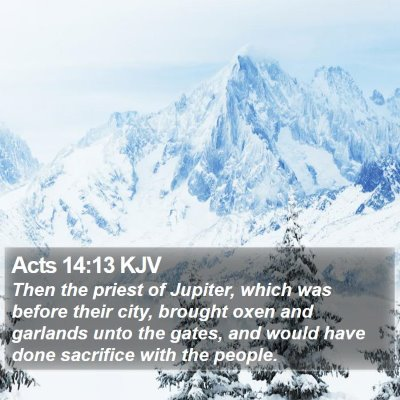 Acts 14:13 KJV Bible Verse Image