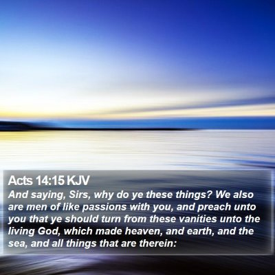 Acts 14:15 KJV Bible Verse Image