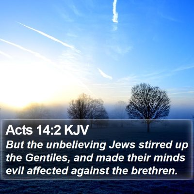 Acts 14:2 KJV Bible Verse Image