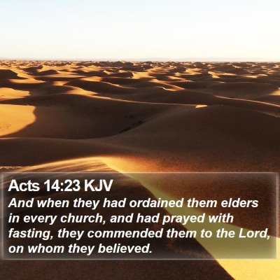 Acts 14:23 KJV Bible Verse Image