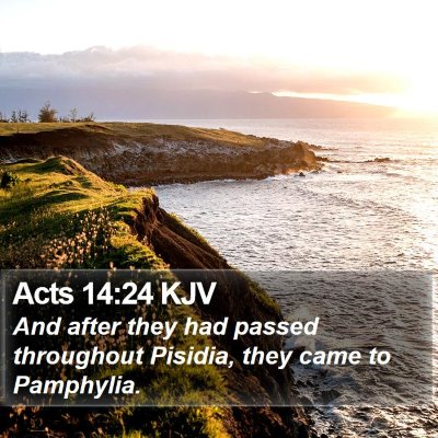 Acts 14:24 KJV Bible Verse Image