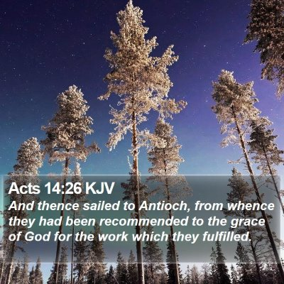 Acts 14:26 KJV Bible Verse Image