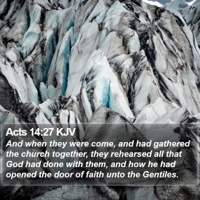 Acts 14:27 KJV Bible Verse Image
