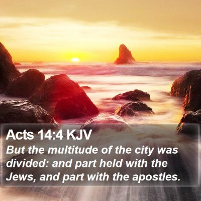 Acts 14:4 KJV Bible Verse Image