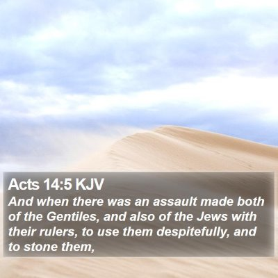 Acts 14:5 KJV Bible Verse Image