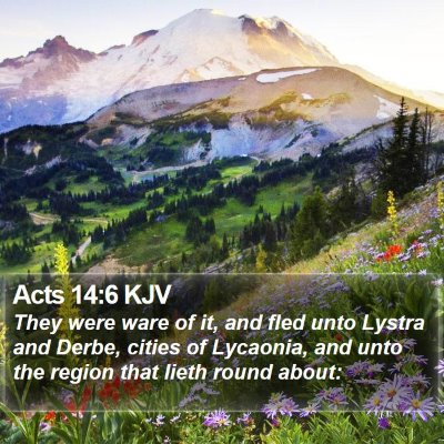 Acts 14:6 KJV Bible Verse Image