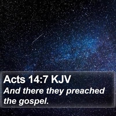 Acts 14:7 KJV Bible Verse Image